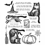Cling Stamps Tim Holtz - Snarky Cat Halloween