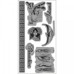 Cling Stamps Tropical Travelogue - Dark Cashmere