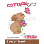 Cottage Cutz Die - Bunny W/Butterfly