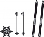 Craftables - Tinys Skis and Snowflakes