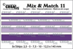 Crealies Mix and Match - Nr. 11 - Streifen glatt (5x)