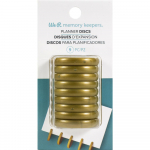 Crop-A-Dile Power Punch Planner Discs - Gold