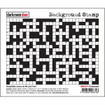 Darkroom Door Cling Stamps - Background Crossword