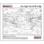 Darkroom Door Cling Stamps - Background World Map