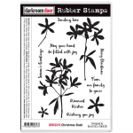 Darkroom Door Cling Stamps - Christmas Bush
