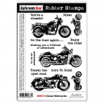 Darkroom Door Cling Stamps - Classic Motorcycle