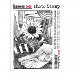 Darkroom Door Cling Stamps - Photo Planted Sunflower