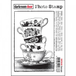 Darkroom Door Cling Stamps - Teacups