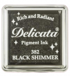 Delicata Small Ink Pad - Black Shimmer