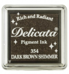 Delicata Small Ink Pad - Dark Brown Shimmer