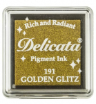 Delicata Small Ink Pad - Golden Glitz