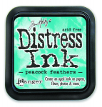 Distress Ink Kissen - Peacock Feathers