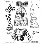 Dylusions Cling Stamps - Paper Doll