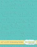Embossing Folder - Sheet Music