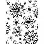 Embossing Folder - Snowflake Background