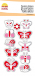 Fashion Sticker Glitter Schmetterling rot