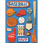 Grand adhesive Sticker Rough and Tumble Baseball