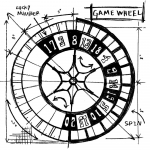 Holzstempel - Tim Holtz Game Wheel Sketch