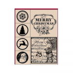 Hot Fudge Mounted Stamp Set - Merry Christmas