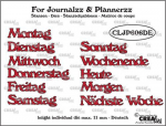 Journalzz and Plannerzz Stanze - Wochentage DE