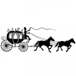 Lavinia Clear Stamps - Horse and Carriage