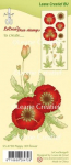 LeCrea Clear Stamps - Klatschmohn 3D Flower