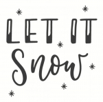 May and Berry Holzstempel - LET IT Snow