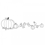 Memory Box Cling Stamps - Plump Pumpkin Border