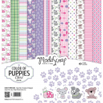 ModaScrap 12x12 Paper Pack - Color Of Puppies Girl