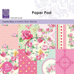 Paper Pad 6x6 - Country Rose