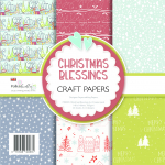 Polkadoodles Christmas Blessings 6x6 Paper Pack