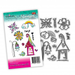 Polkadoodles Clear Stamps - Rainbow Wishes