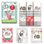 Polkadoodles Gnome Fun Christmas Cute Craft Topper Pack