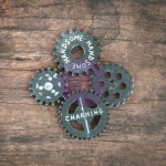 Resin Icons in a Box - Chalk Black Gears