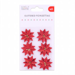 Simply Creative Glittered Poinsettias