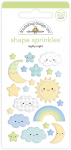 Sprinkles Adhesive Enamel Shapes - Nighty Night