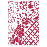 Stamperia A4 Stencil - Fence with Roses