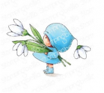 Stamping Bella Cling Stamps - Bundle Girl With A Snowdrop