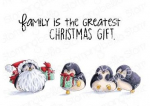 Stamping Bella Cling Stamps - Penguin Family