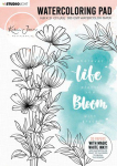 Studio Light Watercoloring Pad A5 - Karin Joan Blooming Collecti