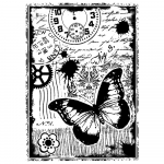 Unmounted Rubber Stamp - Steampunk Butterfly