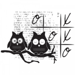 Unmounted Rubber Stamp Set - Love You Owls