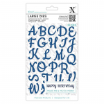 XCut Large Dies - Script Alphabet Upper Case